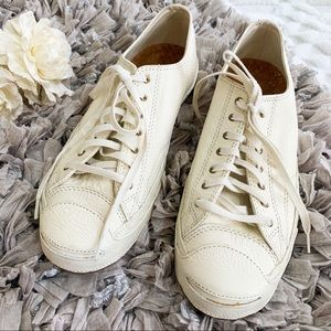 Converse Jack Purcell OX Ivory Leather Sneaker